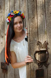 Ukrainian girl in national clothes Royalty Free Stock Photos