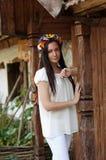 Ukrainian girl in national clothes. Ukrainian beautiful girl in national clothes Stock Images
