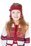 Ukrainian girl in national costume Royalty Free Stock Photos