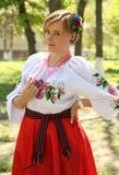 The Ukrainian girl Stock Images