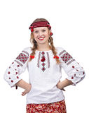 Ukrainian girl posing with hands on hips Royalty Free Stock Photo