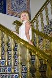 Ukrainian girl on stairs Stock Image