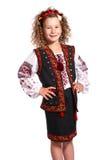 Ukrainian girl on white background Royalty Free Stock Photography