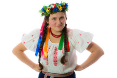 Ukrainian girl in wreath Royalty Free Stock Photography