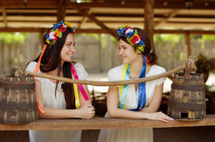 Ukrainian girls in national clothes Stock Photography