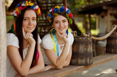 Ukrainian girls in national clothes Stock Photos