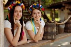 Ukrainian girls in national clothes Stock Photos