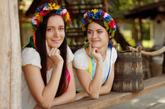 Ukrainian girls in national clothes Stock Images