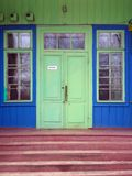 Ukrainian Green Doors Stock Photography
