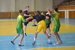 Ukrainian handball championship 2015 Royalty Free Stock Photo