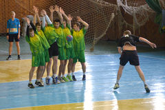 Ukrainian handball championship 2015 Stock Photo