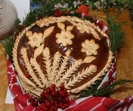 Ukrainian handmade festive bakery Holiday Bread 2 Stock Images