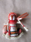 Ukrainian handmade folk doll. Traditional toy for Ukraine royalty free stock photography