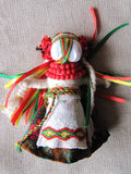 Ukrainian handmade folk doll. Traditional toy for Ukraine stock images