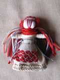 Ukrainian handmade folk doll Royalty Free Stock Images