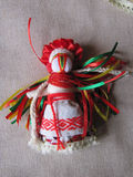 Ukrainian handmade folk doll. Traditional toy for Ukraine royalty free stock image