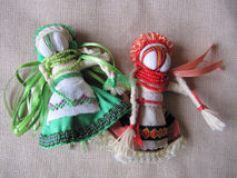 Ukrainian handmade folk doll. Traditional toy for Ukraine stock image
