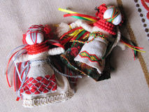 Ukrainian handmade folk doll. Traditional toy for Ukraine stock photography