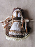 Ukrainian handmade folk doll. Traditional toy for Ukraine royalty free stock images