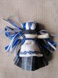 Ukrainian handmade folk doll Stock Images