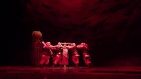 Ukrainian historical ballet Princess Olga. DNIPRO, UKRAINE - FEBRUARY 24, 2017: Ukrainian historical ballet Princess Olga performed by members of the Dnipro stock video