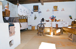 Ukrainian historical peasant dwelling interior Stock Photo
