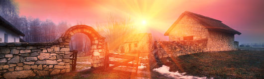 Ukrainian historical southern country side Stock Photo