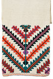 Ukrainian homespun towel embroidered Royalty Free Stock Photos