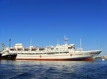 Ukrainian hospital ship Yenisey docked in Sevastopol, Crimea Royalty Free Stock Photos