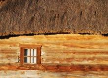 Ukrainian house. Wall of wooden ukrainian house Stock Images