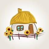 Ukrainian house cartoon Stock Photography