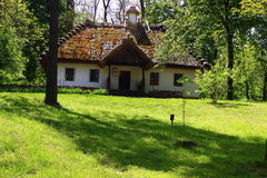 Ukrainian house. Front view of the house in which he lived Shevchenko Royalty Free Stock Photography