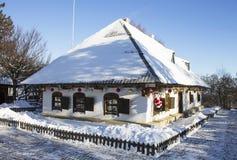 Ukrainian house. Winter, Christmas Royalty Free Stock Photo