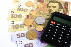 Ukrainian hryvnia Royalty Free Stock Photos