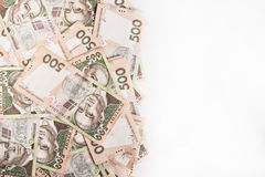 500 Ukrainian hryvnia background with space for text Stock Photography