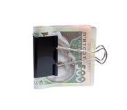Ukrainian hryvnia clerical clamp Royalty Free Stock Photos
