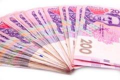 Ukrainian hryvnia close up. European money, ukrainian hryvnia close up. 200 uah royalty free stock photos
