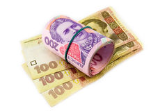 Ukrainian hryvnia close up Stock Photography