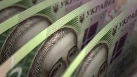 Ukrainian Hryvnia Close-up seamless stock video footage