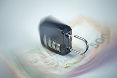 Ukrainian hryvnia fall concept Royalty Free Stock Photo