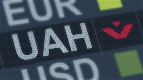 Ukrainian hryvnia fall. World exchange market default. Global financial crisis. Stock footage stock video footage