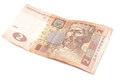 Ukrainian Hryvnia. 2 hryvni Royalty Free Stock Images
