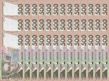 Ukrainian hryvnia money stock photo