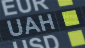 Ukrainian hryvnia rise, fall. World exchange market. Currency rate fluctuating. Stock footage stock footage