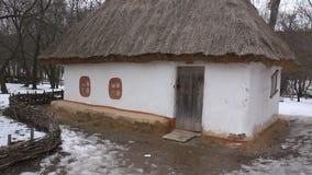 Ukrainian hut stock video footage