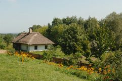 Ukrainian hut Ethnographic Museum Pirohovo. 2007 august Ukrainian hut Ethnographic Museum Pirohovo near Kiev Royalty Free Stock Image