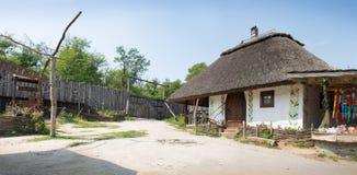 Ukrainian hut at Museum of Khortitsa Royalty Free Stock Image