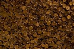 Ukrainian kopecks. A lot of coins Ukrainian kopecks Stock Image