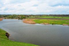 Ukrainian lake in May Royalty Free Stock Photo