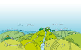 Ukrainian landscape sketch Stock Image